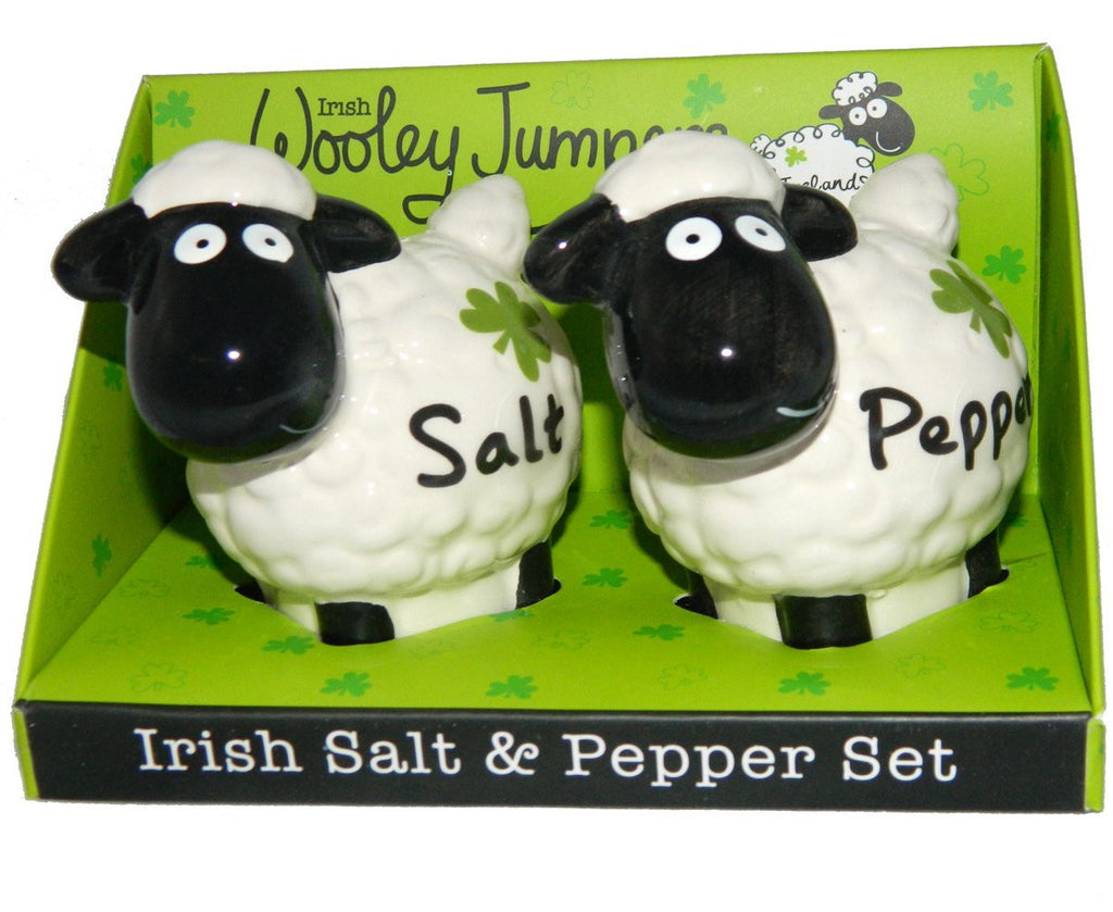 Irish Wacky Woolies Salt and Pepper set