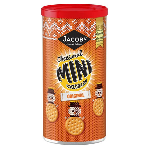 Jacob's Mini Baked Cheddars Biscuits Tube 260g
