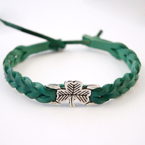 Irish Leather Wrist Band