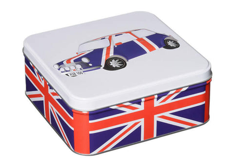 Union Jack Mini Car - Tea and Biscuit Tin