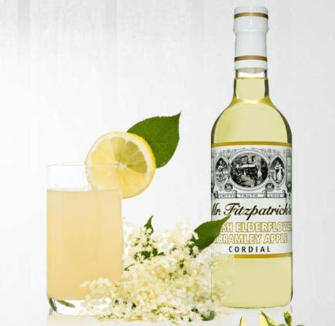mr fitzpatrick english elderflower & bramley apple cordial 500ml