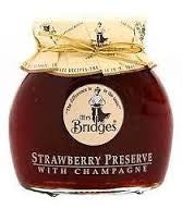 Mrs Bridges Strawberry Preserve with Champagne