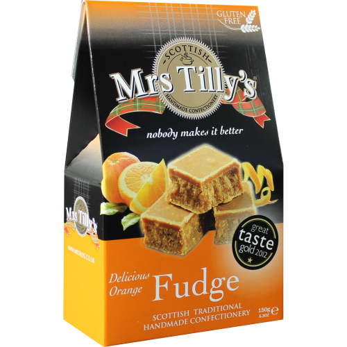 Mrs Tilly's Orange Fudge 150g