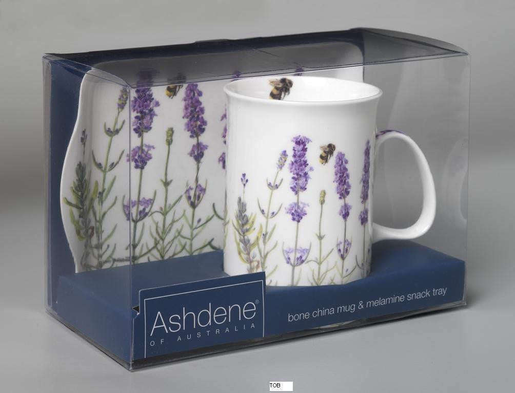 "Ashdene ""I Love Lavender"" Mug and Tray Set"
