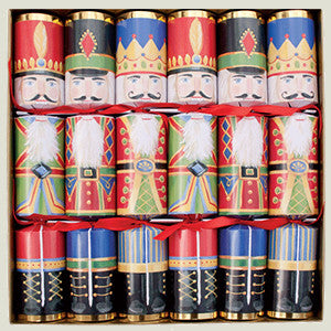 Christmas Crackers 6 pk (Nutcracker style)