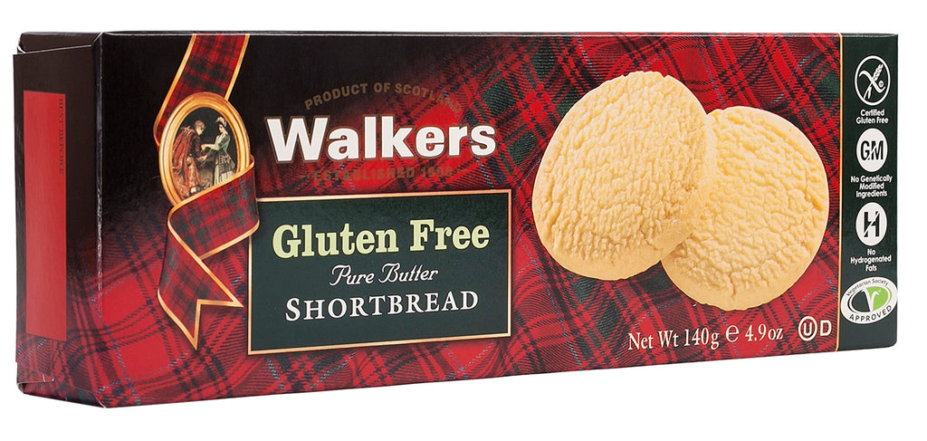 Walkers Gluten Free Pure Butter Shortbread 140g