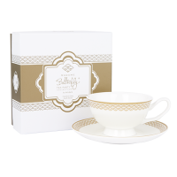 Madame Butterfly Tea Party Teacup & Saucer Ivory