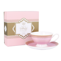 Madame Butterfly Teacup & Saucer Rose