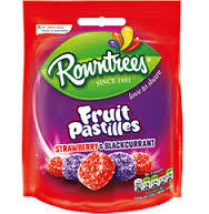 Rowntrees Fruit Pastilles Strawberry & Blackcurrant 150g
