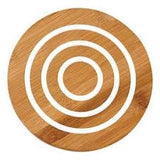 Ladelle Classic Round White Bamboo Trivet