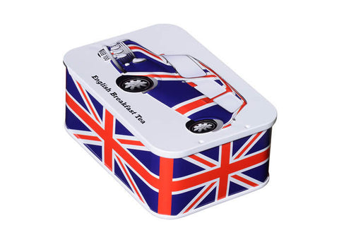 Slide Tea Tin with Union Jack Mini - 10 bags of English Breakfast teabags