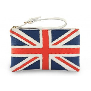 Union Jack Real Leather Wrist Bag