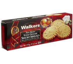 Walkers Pure Butter Stem Ginger Shortbread (175G)