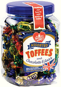 Walkers Assorted Toffees and Chocolate Eclairs 450g