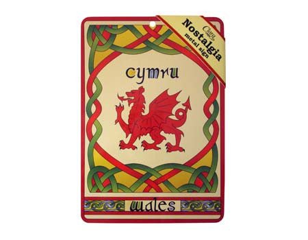 Welsh Dragon Weave Metal Sign