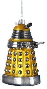 Doctor Who Glass Christmas ornament Yellow Dalek