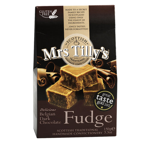 Mrs Tilly's Belgian Dark Chocolate Fudge 150g