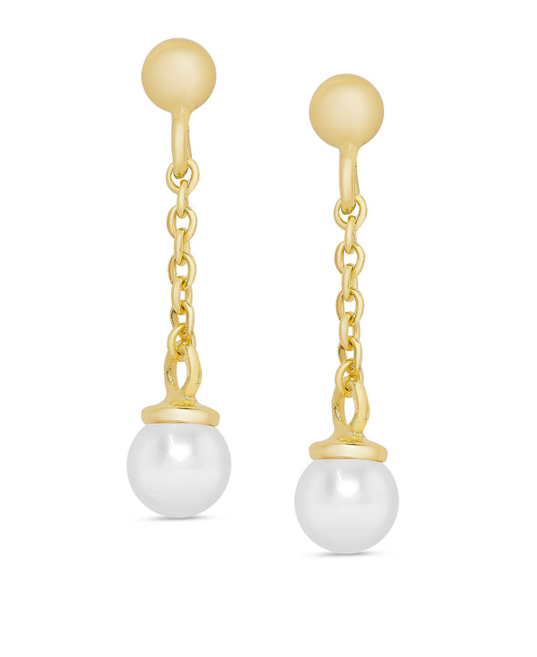 Freshwater Pearl Dangle Earrings in Sterling Silver