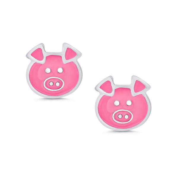 Little Piggy Stud Earrings in Sterling Silver