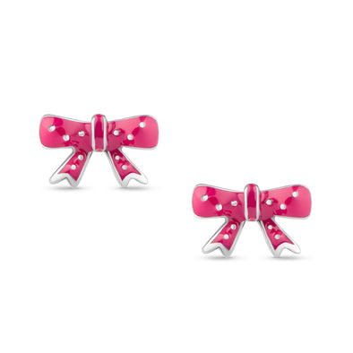 Bow Stud Earrings in Sterling Silver