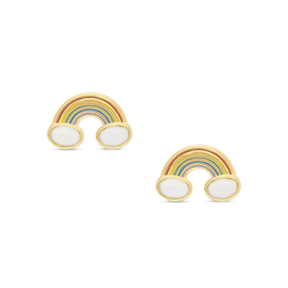 Rainbow Stud Earrings in Sterling Silver