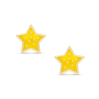 Twinkling Star Stud Earrings in Sterling Silver