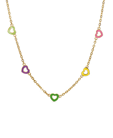 Heart Station Necklace