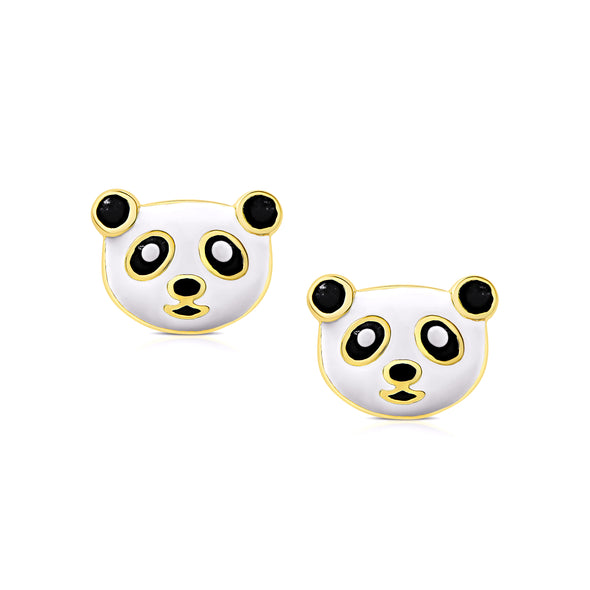 Panda Bear Stud Earrings
