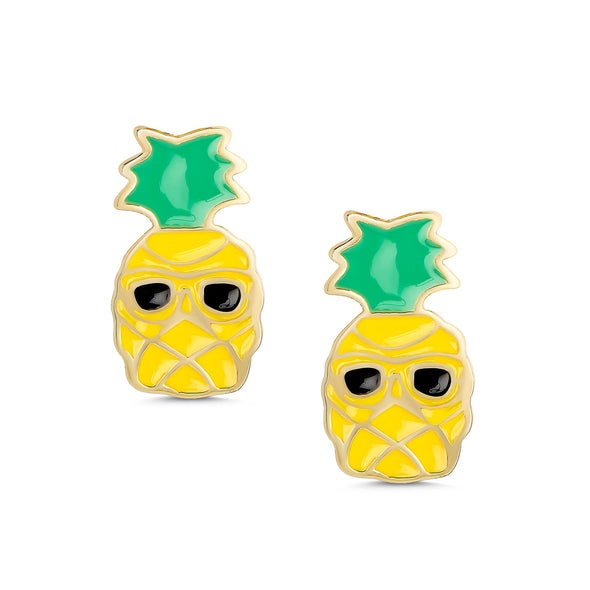 Sunny Pineapple Stud Earrings