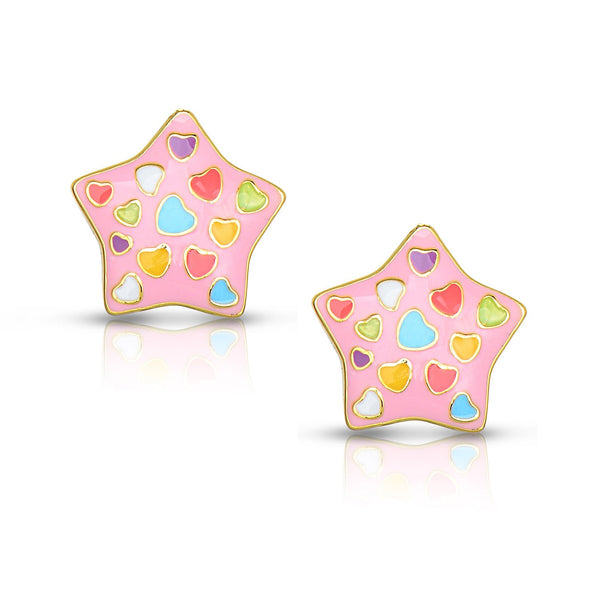 Puffed Star Stud Earrings