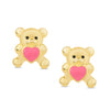 Heart Teddy Bear Stud Earrings