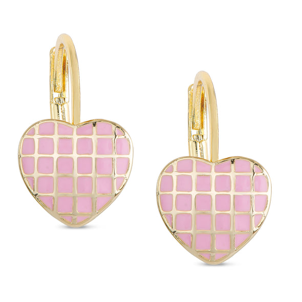 Lattice Heart Drop Earrings