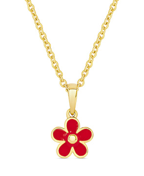 Flower Pendant (Red)