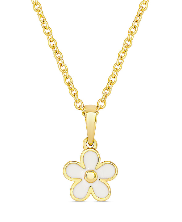 Flower Pendant (White)