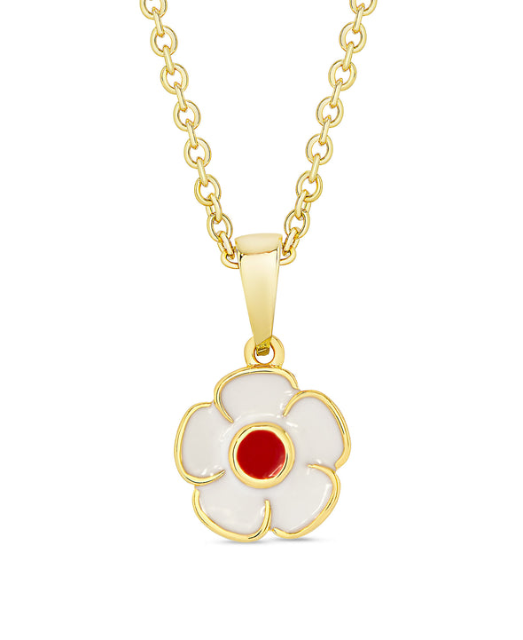 Flower Pendant (White / Red)
