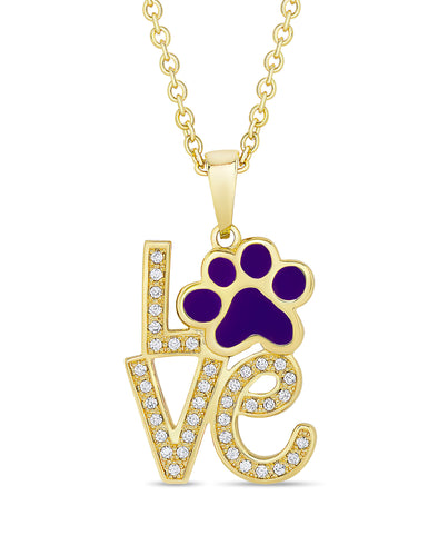 Puppy Love CZ Pendant (Purple)