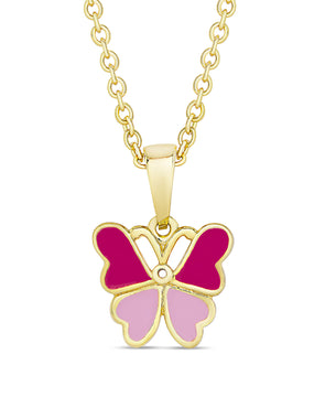 Butterfly Pendant (2-Tone Pink)