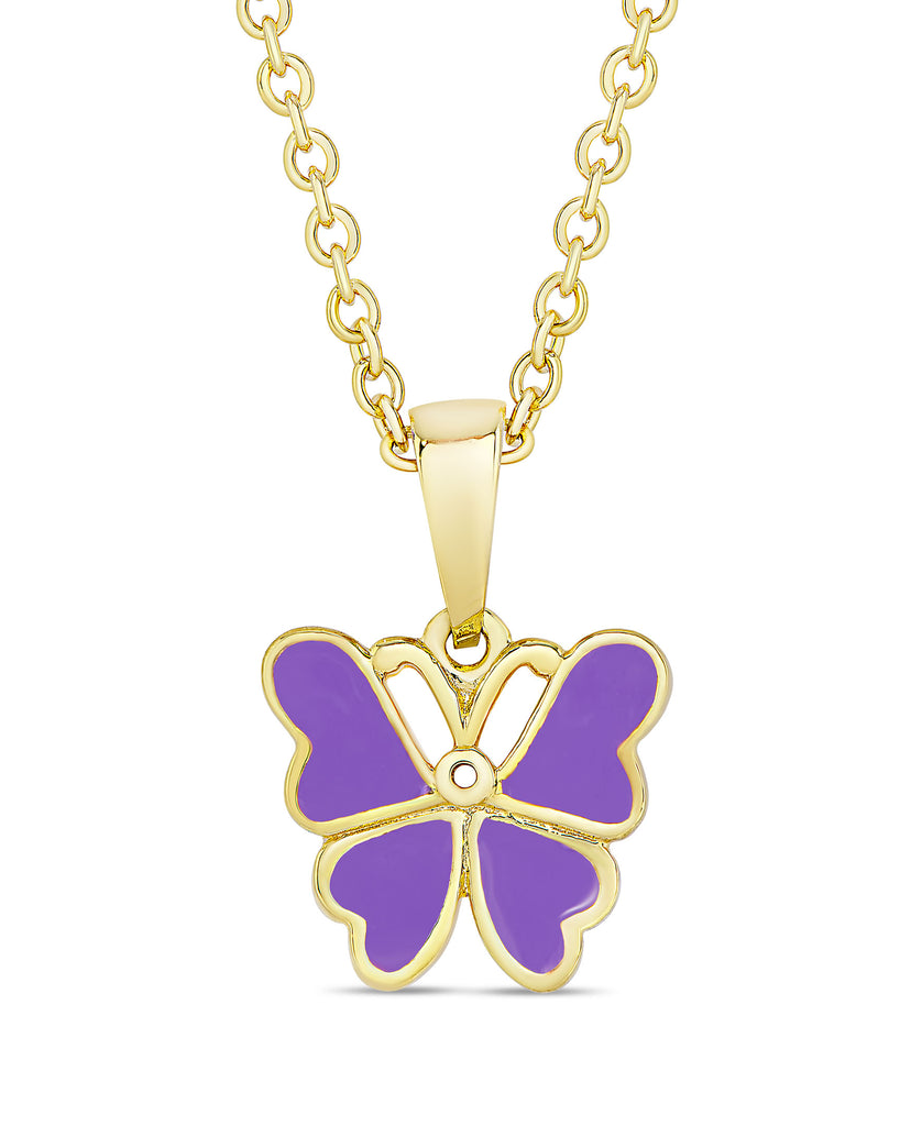 Butterfly Pendant (Purple)-1