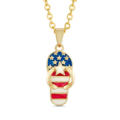 Americana Flip Flop Necklace