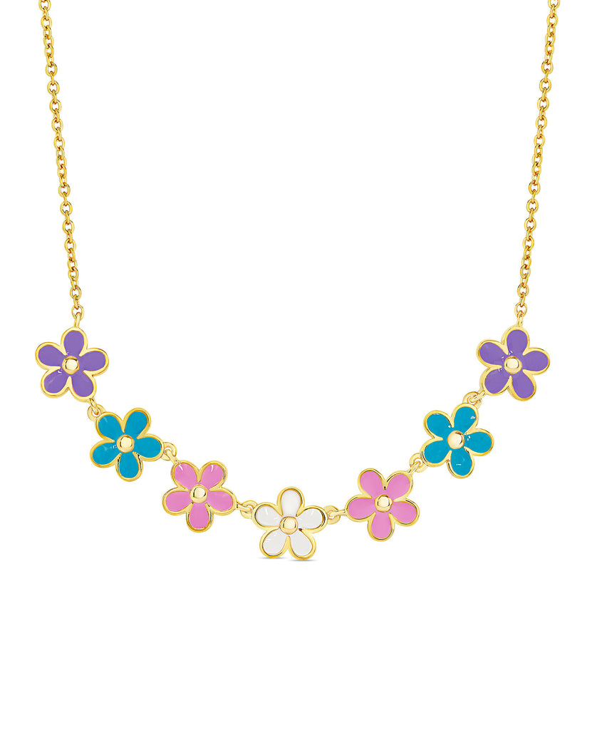 Flower Frontal Necklace (Multi)-1
