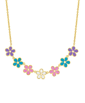 Flower Frontal Necklace (Multi)