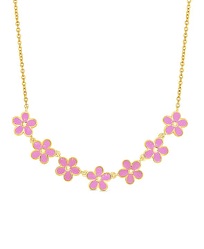 Flower Frontal Necklace (Pink)