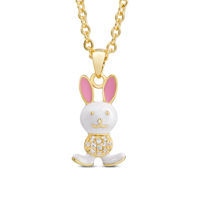Bunny Rabbit Necklace with CZ