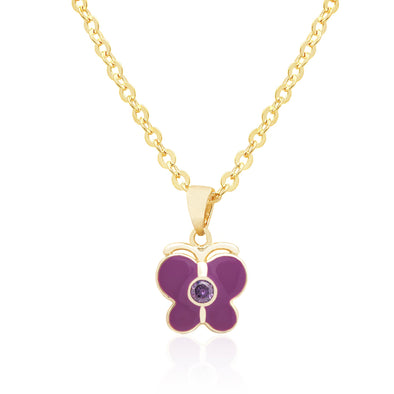 Butterfly with Crystal Necklace