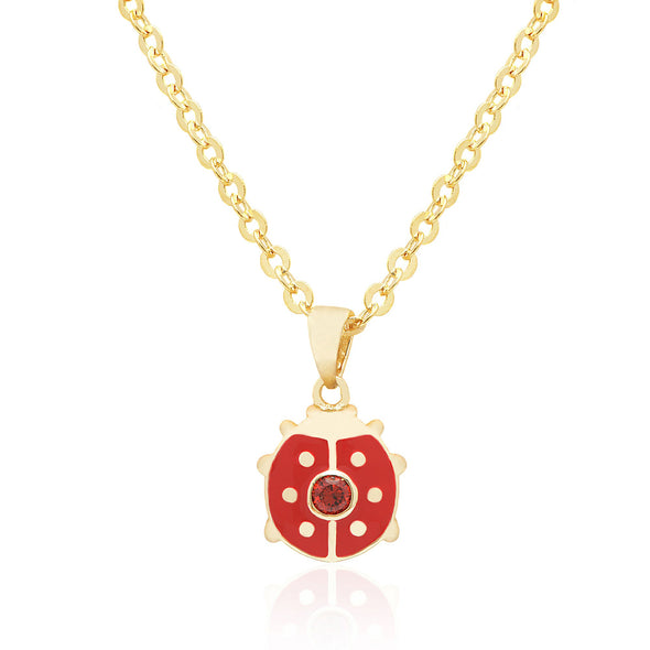 Ladybug with Crystal Necklace