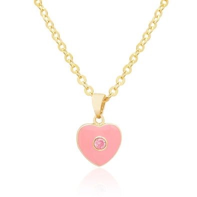 Heart with Crystal Necklace
