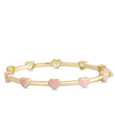 Lattice Heart Bangle Bracelet