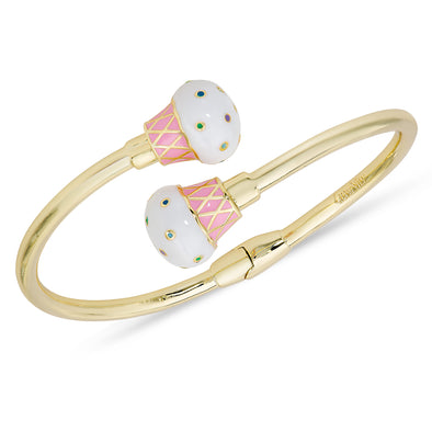 Cupcake Hinged Bypass Bangle