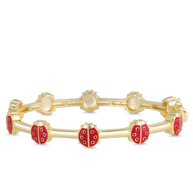 Ladybug Bangle - Red