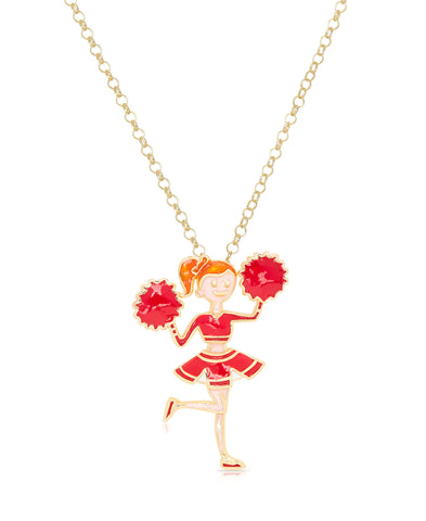 Red Cheerleader Pendant